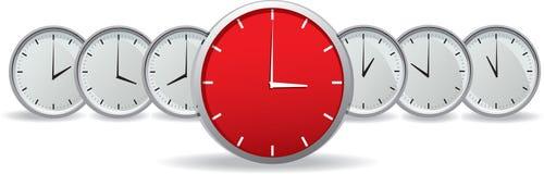 Conjunto de relojes detallados del vector Fotografía de archivo