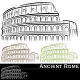 Conjunto de Rman Colosseum Imagen de archivo libre de regalías