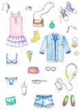 Conjunto de ropa libre illustration