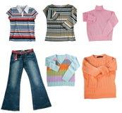 Conjunto de ropa de las mujeres del color Foto de archivo