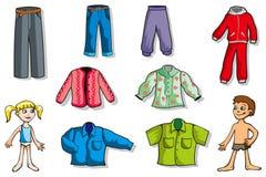 Conjunto de ropa de los niños Foto de archivo