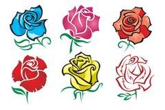 Conjunto de rosas Foto de archivo