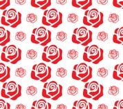 Conjunto de rosas rojas stock de ilustración
