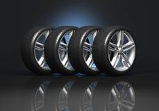 Conjunto de ruedas de coche Imagenes de archivo