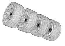 Conjunto de ruedas de coche Foto de archivo