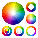Conjunto de ruedas de color Stock de ilustración