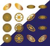Conjunto de ruedas dentadas Imagen de archivo libre de regalías