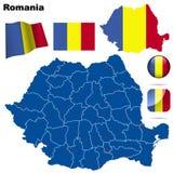 Conjunto de Rumania. stock de ilustración