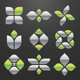 Conjunto de símbolo abstracto del vector Fotografía de archivo libre de regalías