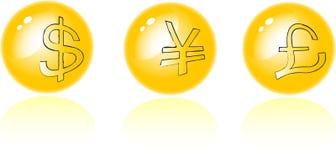 Conjunto de símbolo del dinero Stock de ilustración