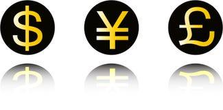 Conjunto de símbolo del dinero Ilustración del Vector