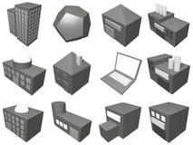 Conjunto de símbolo del icono de la gerencia de la cadena de suministro Foto de archivo libre de regalías
