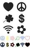 Conjunto de símbolos Fotos de archivo
