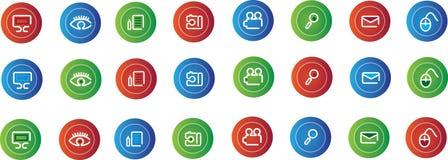 Conjunto de símbolos coloreados Imagen de archivo libre de regalías