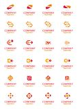 Conjunto de símbolos corporativos de la insignia de la flecha del vector Fotos de archivo