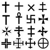 Conjunto de símbolos cruzado Foto de archivo