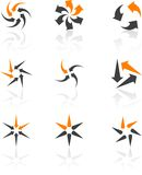 Conjunto de símbolos de la compañía. Fotos de archivo