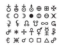 Conjunto de símbolos de la mística III Foto de archivo