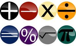 Conjunto de símbolos de la matemáticas Foto de archivo libre de regalías