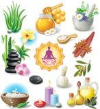 Conjunto de símbolos del BALNEARIO libre illustration