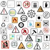 Conjunto de símbolos del embalaje Foto de archivo