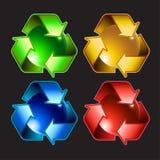 Conjunto de símbolos del resycle Fotografía de archivo