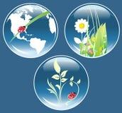 Conjunto de símbolos ecológicos Imágenes de archivo libres de regalías