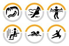Conjunto de salud y de pictogramas del balneario II Imagen de archivo libre de regalías