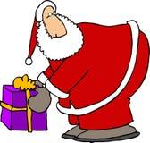 Conjunto de Santas Imagen de archivo libre de regalías