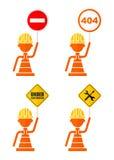 Conjunto de señales de peligro Imagenes de archivo
