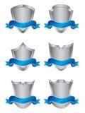 Conjunto de seis blindajes de plata Imagen de archivo libre de regalías