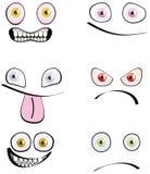 Conjunto de seis emociones Foto de archivo libre de regalías