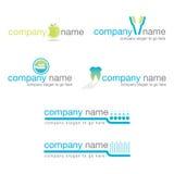 Conjunto de seis insignias dentales Fotos de archivo libres de regalías