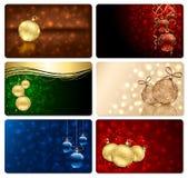 Conjunto de seis tarjetas de Navidad Imágenes de archivo libres de regalías