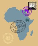 Conjunto de sellos Imagen de archivo