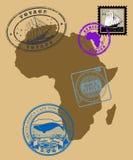 Conjunto de sellos Foto de archivo