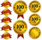 Conjunto de sellos de calidad stock de ilustración