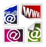 Conjunto de sellos del poste electrónico Fotografía de archivo