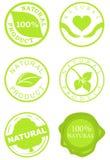 Conjunto de sellos del producto natural Foto de archivo