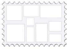 Conjunto de sellos en blanco del poste Fotografía de archivo libre de regalías
