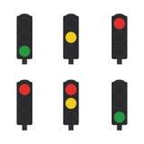 Conjunto de semáforos Fotografía de archivo libre de regalías