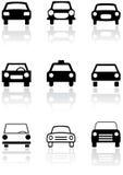 Conjunto de símbolo del coche. Fotografía de archivo