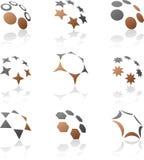 Conjunto de símbolos de la compañía. Foto de archivo