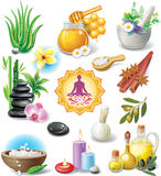 Conjunto de símbolos del BALNEARIO Foto de archivo libre de regalías