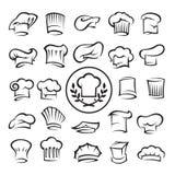 Conjunto de sombreros del cocinero Fotos de archivo