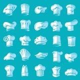 Conjunto de sombreros del cocinero Fotografía de archivo