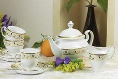 Conjunto de té 1 Foto de archivo libre de regalías
