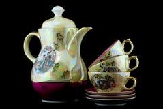 Conjunto de té antiguo Imagenes de archivo