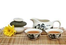Conjunto de té asiático Fotos de archivo libres de regalías