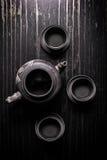 Conjunto de té asiático Fotografía de archivo